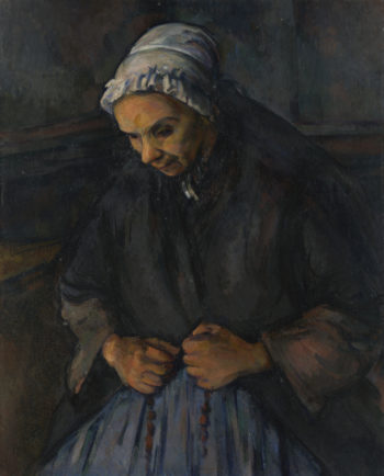 An Old Woman with a Rosary | Paul Cezanne | oil painting