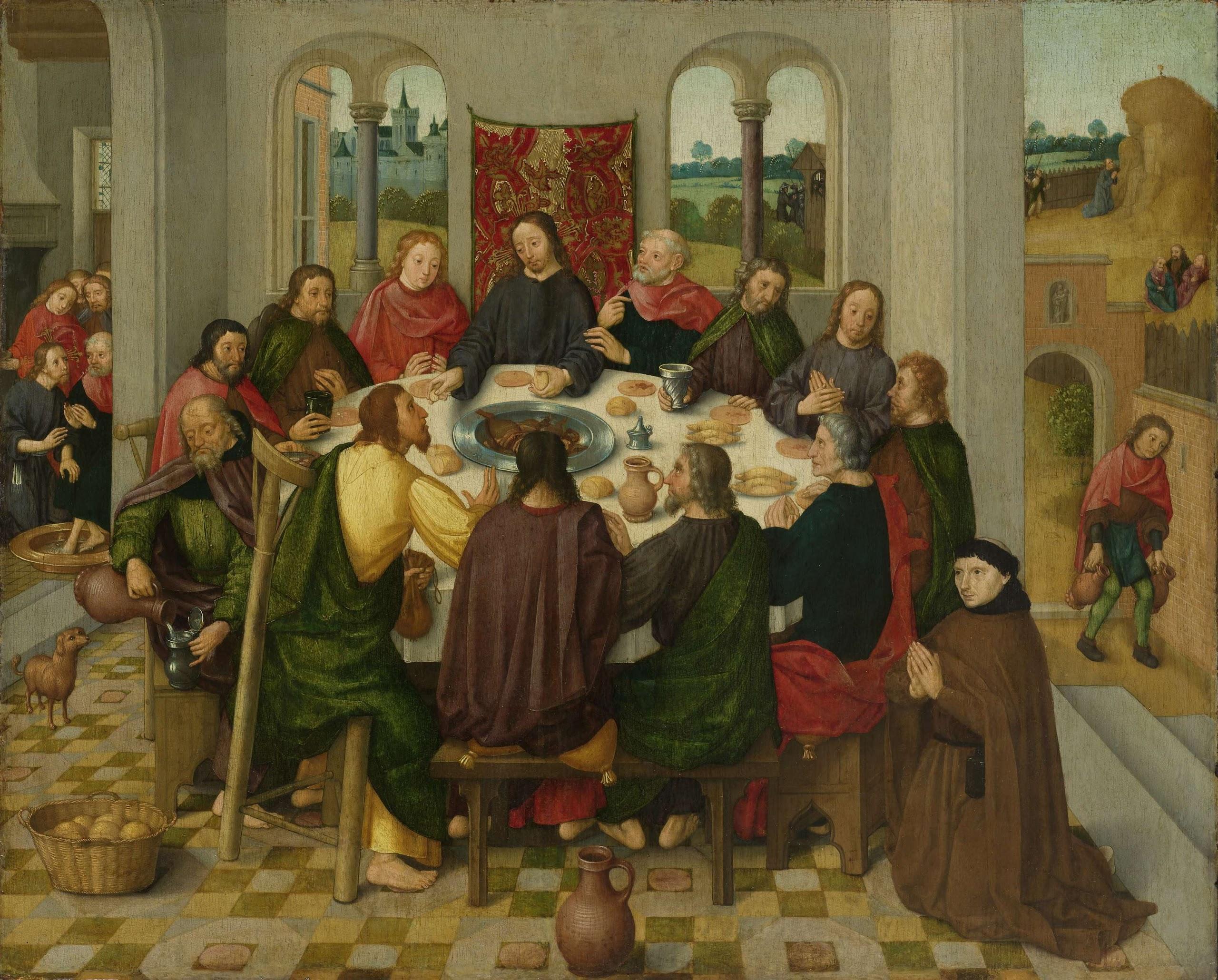 The last supper ca ca painting meester van de
