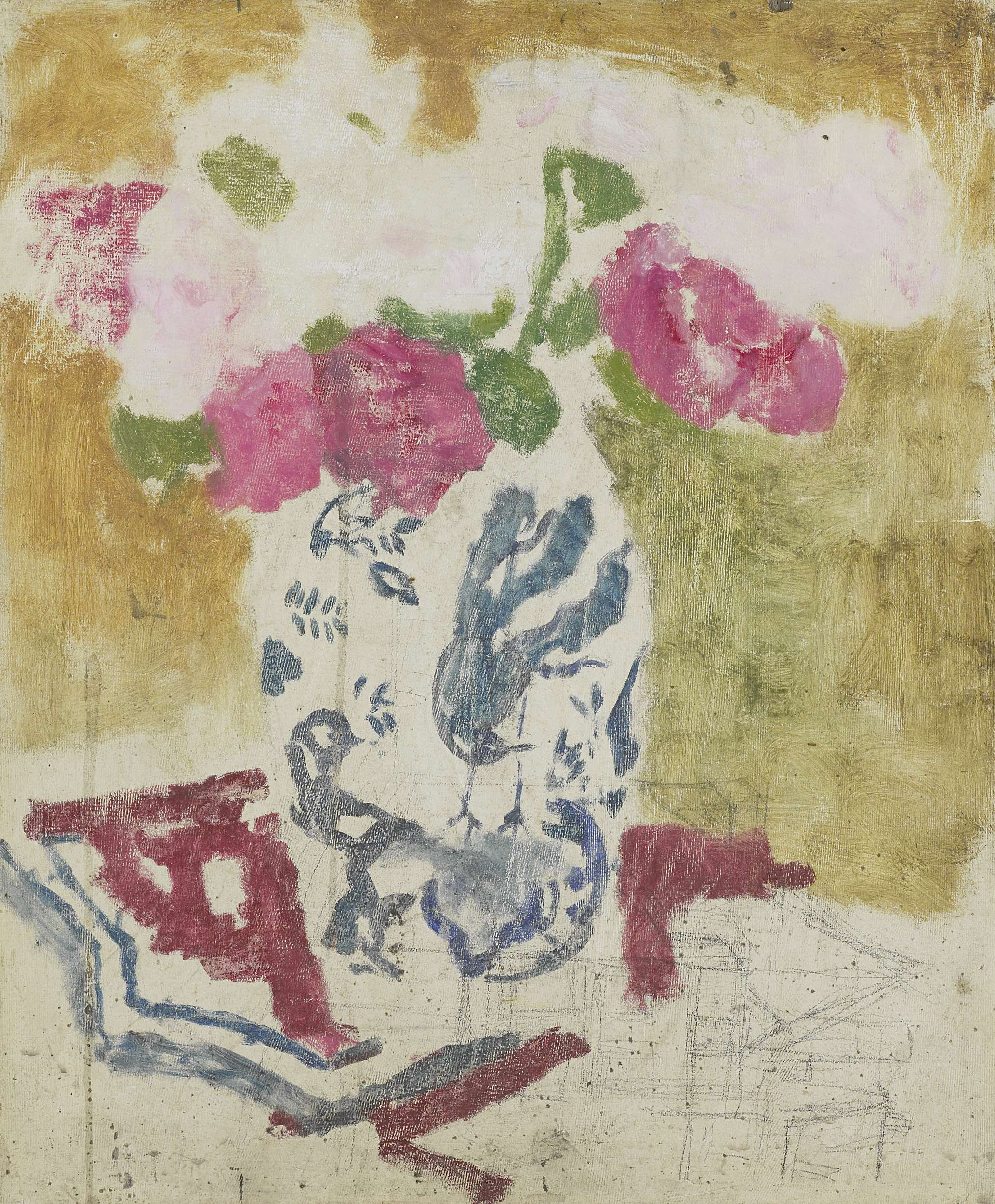 Vase with pink flowers ca 1880 ca 1923 painting george vase with pink flowers ca 1880 ca 1923 george hendrik breitner mightylinksfo