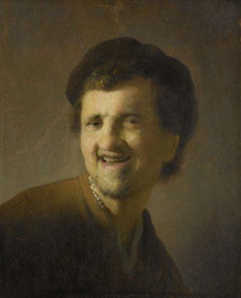 Bust of a smiling young man. ca. 1629 - ca. 1630   Rembrandt Harmensz. van Rijn   oil painting