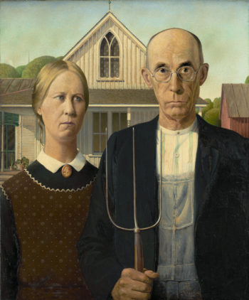 American Gothic | Grant Wood | oil painting