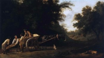 Laborers Loading a Brick Cart | George Stubbs | oil painting
