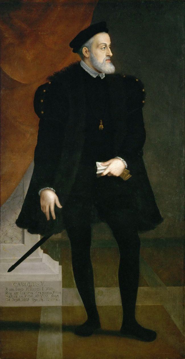 Emperor Karl V At Age 50 In Full Figure