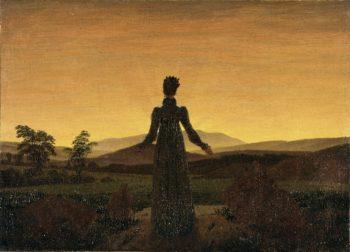 Woman before the Rising Sun - Woman before the Setting Sun (1818-20) | Caspar David Friedrich | oil painting