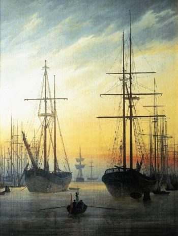 View of a Harbour (1815-16) | Caspar David Friedrich | oil painting