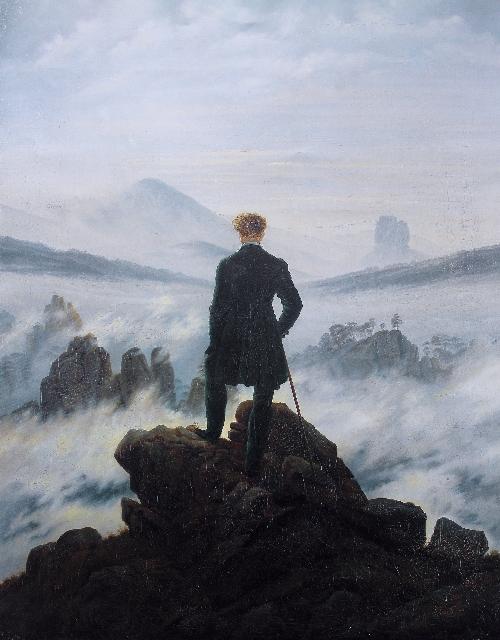 The Wanderer above the Mists (1817-1818) | Caspar David Friedrich | oil painting