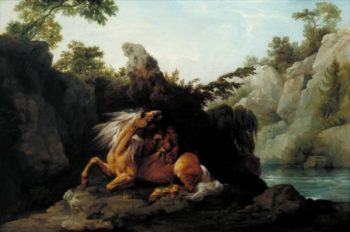 Horse Devoured by a Lion   George Stubbs   oil painting