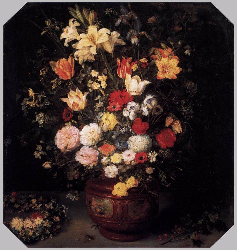 Still-life with a flower bouquet Painting | Jan Brueghel The Elder ...