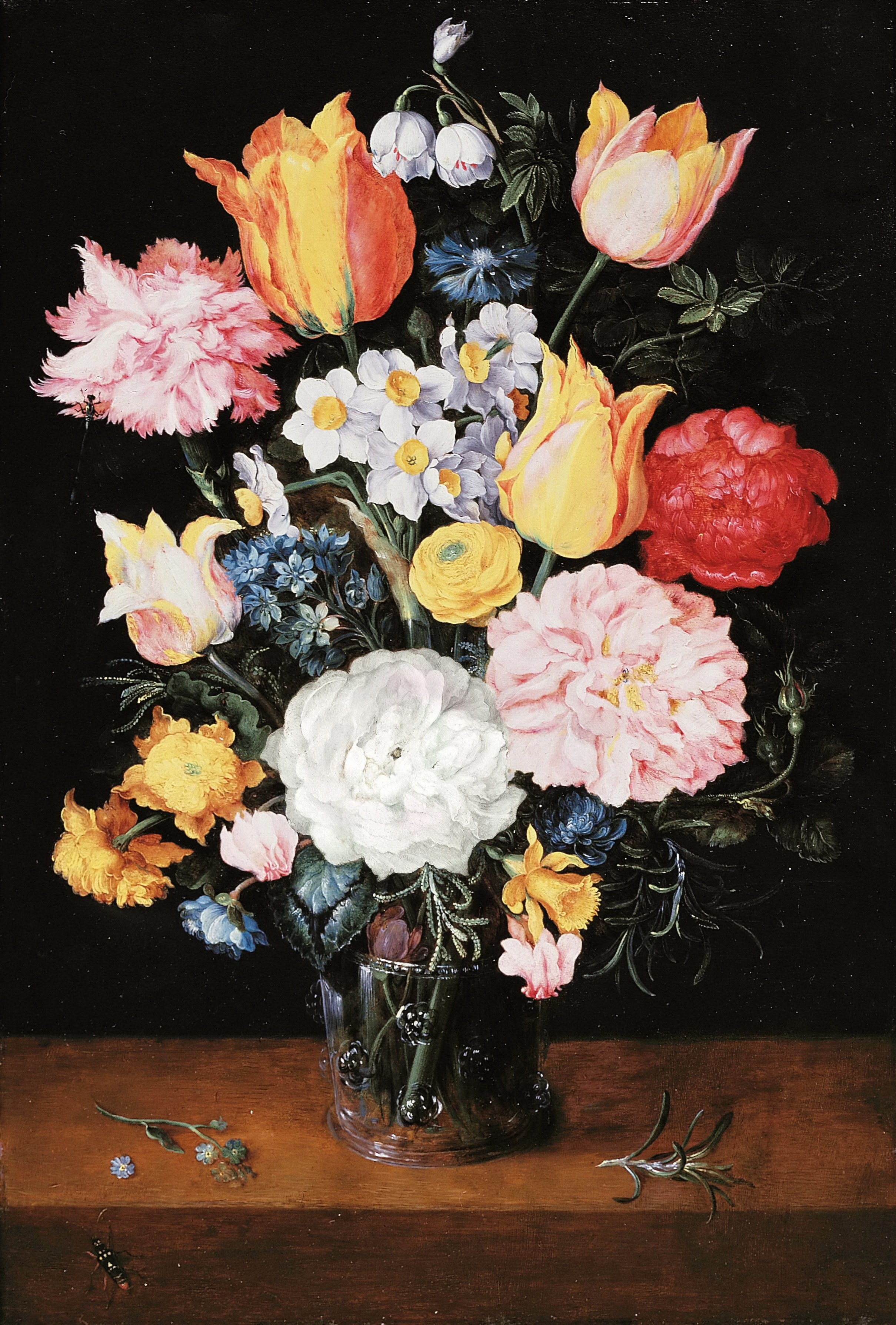 Bouquet of flowers in a glass vase painting jan brueghel ii the bouquet of flowers in a glass vase jan brueghel ii the younger reviewsmspy