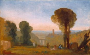 Italian Landscape with Bridge and Tower   Joseph Mallord William Turner   oil painting