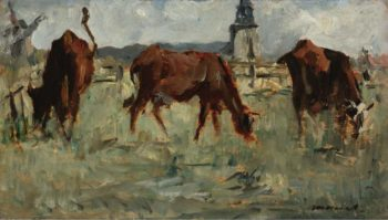 Cows at the Pasture 1873 | Eduard Manet | oil painting