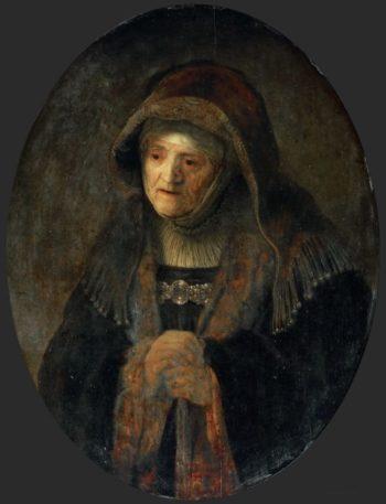 Artists Mother as Prophetess Hannah | Rembrandt Van Rijn | oil painting