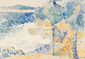 Landscape Saint Clair   Henri Edmond Cross   oil painting