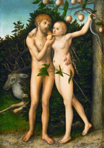 Adam and Eve 1526 | Lucas Cranach the Elder | oil painting