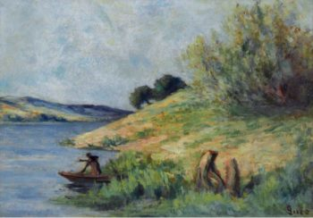 Banks of the Seine | Maximilien Luce | oil painting