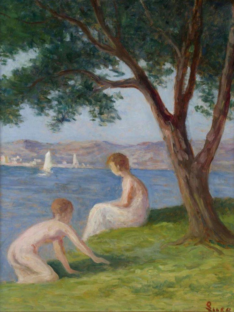 Bathers at Saint Tropez | Maximilien Luce | oil painting