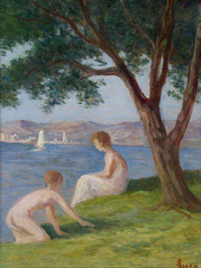 Bathers at Saint Tropez   Maximilien Luce   oil painting