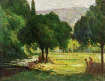 Bathers at the Bank of the Cure | Maximilien Luce | oil painting