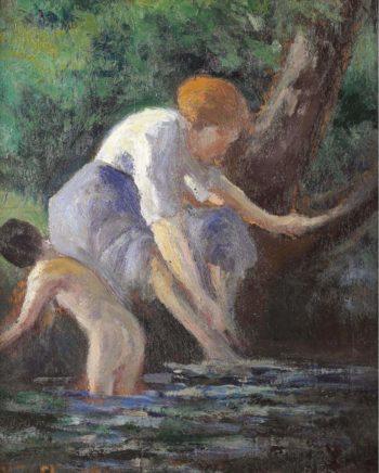 Bathing | Maximilien Luce | oil painting