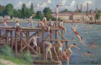 Bathing 1920 | Maximilien Luce | oil painting