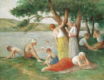 Bathing at Rolleboise | Maximilien Luce | oil painting