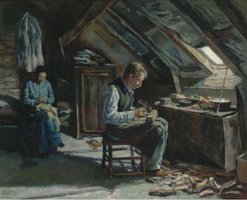 Boot Maker on Mansarde 1883 | Maximilien Luce | oil painting