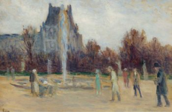 By the Fountain | Maximilien Luce | oil painting