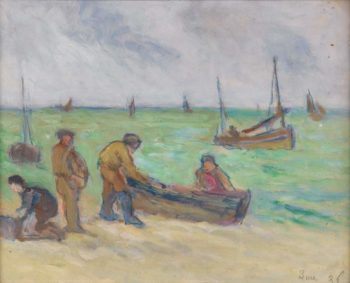 Debarkation 1936 | Maximilien Luce | oil painting