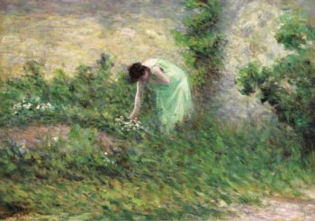 Gisors Woman Picking Flowers 1902 | Maximilien Luce | oil painting