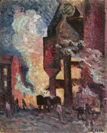 High Furnaces 1896 99 | Maximilien Luce | oil painting