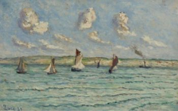 Honfleur Sailers and Tug Boats 1929 | Maximilien Luce | oil painting