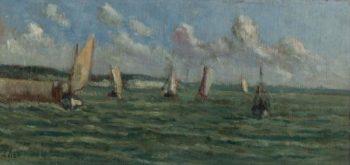 Honfleur Sailers on the Sea | Maximilien Luce | oil painting