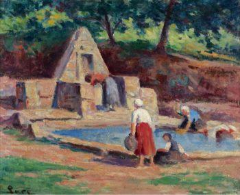 Kermouster the Laundresses 1914 15 | Maximilien Luce | oil painting