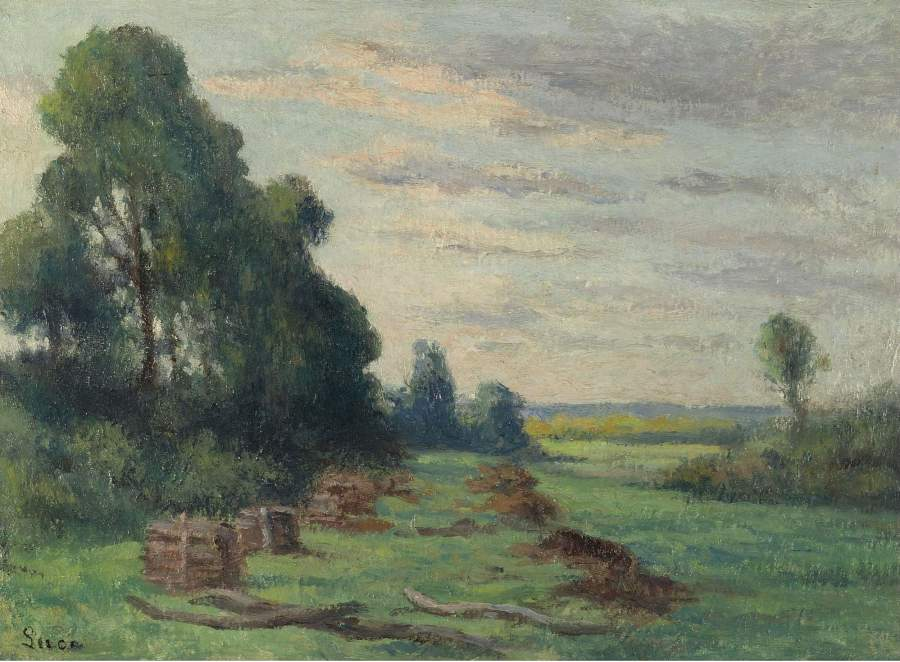 Landscape in the Outskirts of Rolleboise 1935 | Maximilien Luce | oil painting