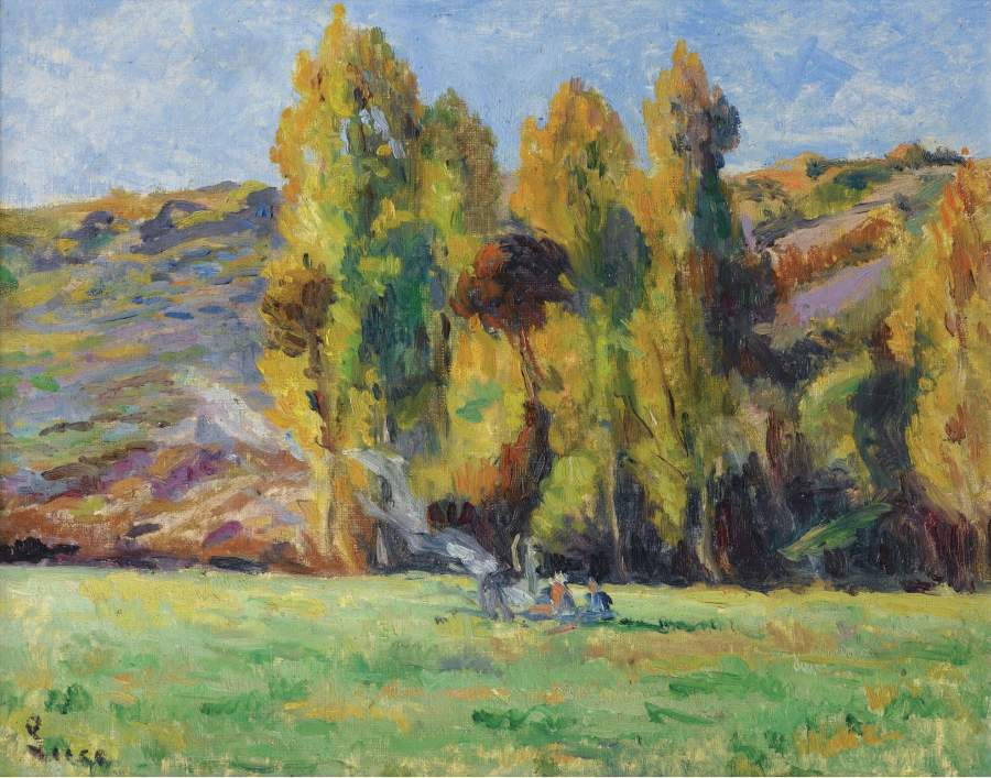 Landscape near the Bessy sur Cure 1908 | Maximilien Luce | oil painting