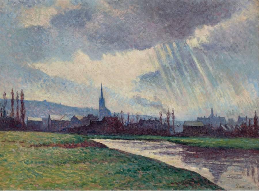Landscape of the Riverbanks 1896 | Maximilien Luce | oil painting