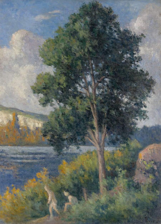 Landscape with Bathers | Maximilien Luce | oil painting