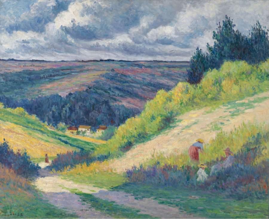 Landscape with Hills near Moulineux 1903 04 | Maximilien Luce | oil painting
