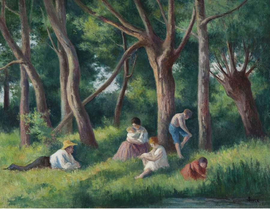 Late Afternoon at the Forest | Maximilien Luce | oil painting