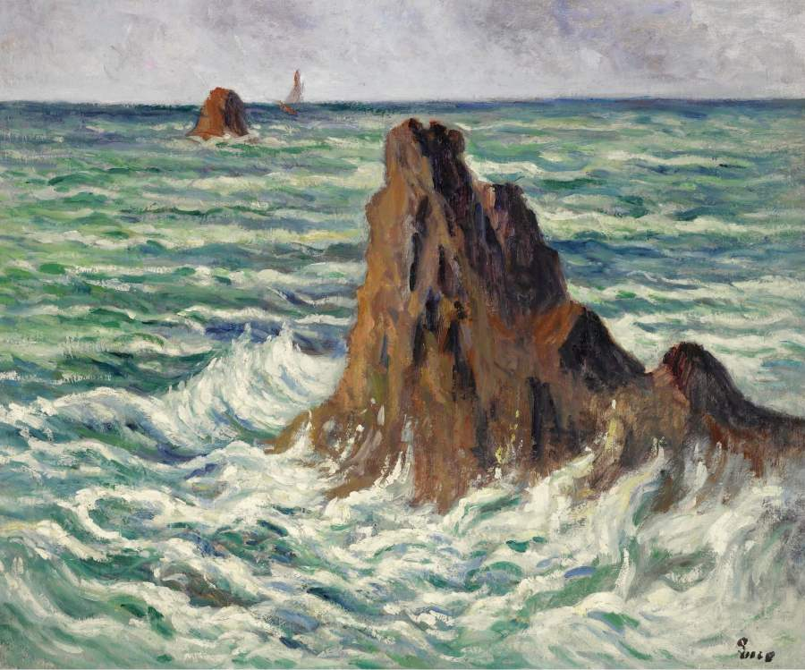 LocquIivy the Reefs 1914 15 | Maximilien Luce | oil painting