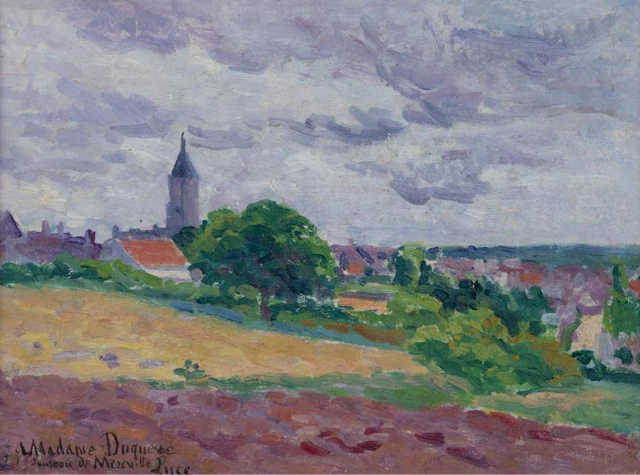 Memories about Mereville 1903 | Maximilien Luce | oil painting