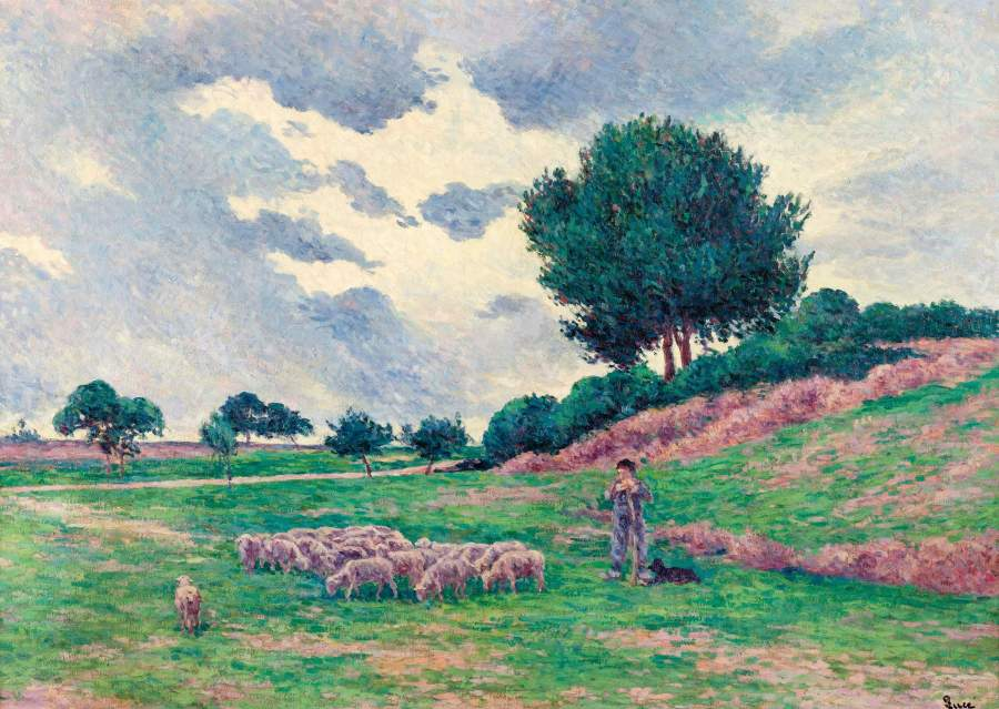 Mereville Flock of Lambs 1902 03 | Maximilien Luce | oil painting