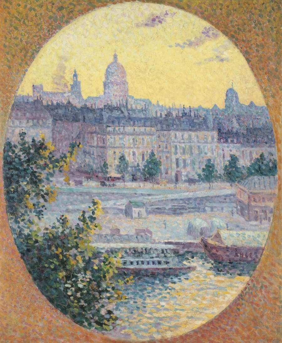 Montebello Quay and Sainte Genevieve Hill Paris 1901 | Maximilien Luce | oil painting