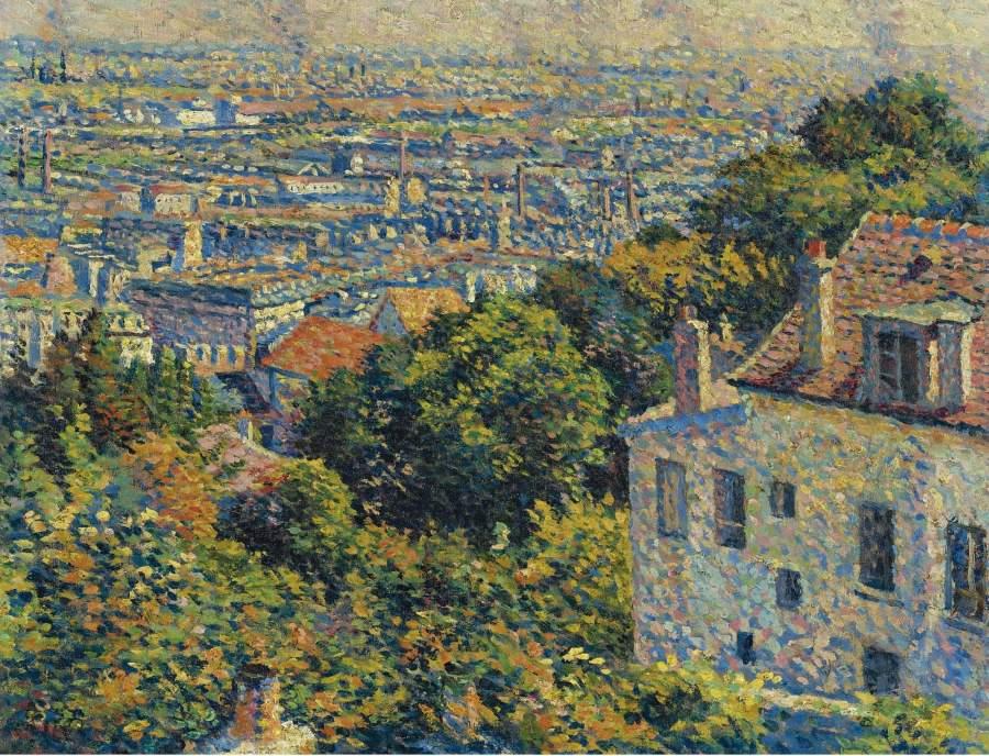 Montmartre Cortot Street View on Saint Denis 1900 | Maximilien Luce | oil painting
