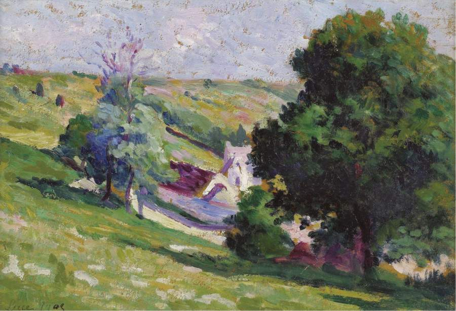 Moulineaux Group of Trees near the Village | Maximilien Luce | oil painting