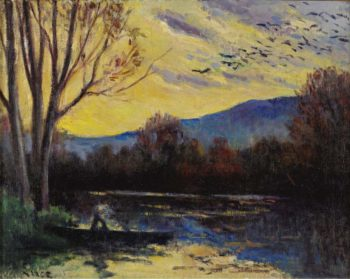 Moulineux Sunset over the Etang | Maximilien Luce | oil painting