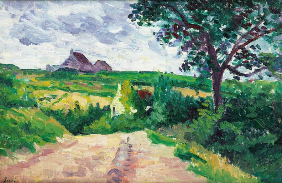 Outskirts of Etamples | Maximilien Luce | oil painting