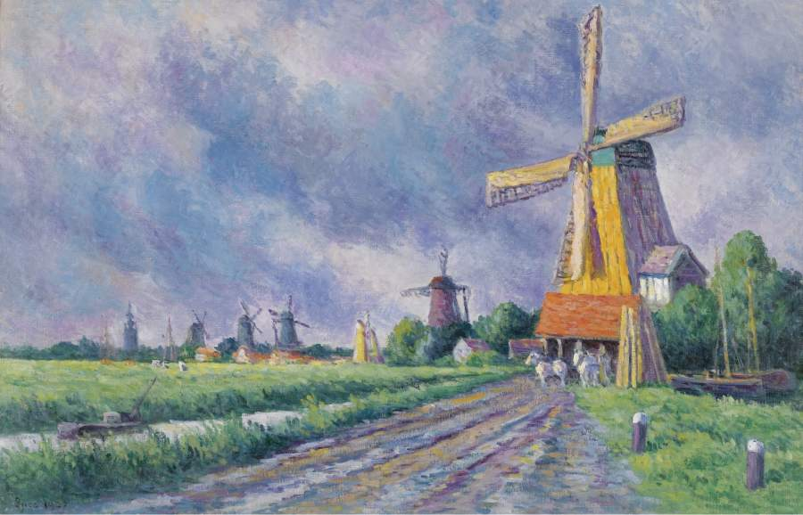 Outskirts of Rotterdam 1907 | Maximilien Luce | oil painting