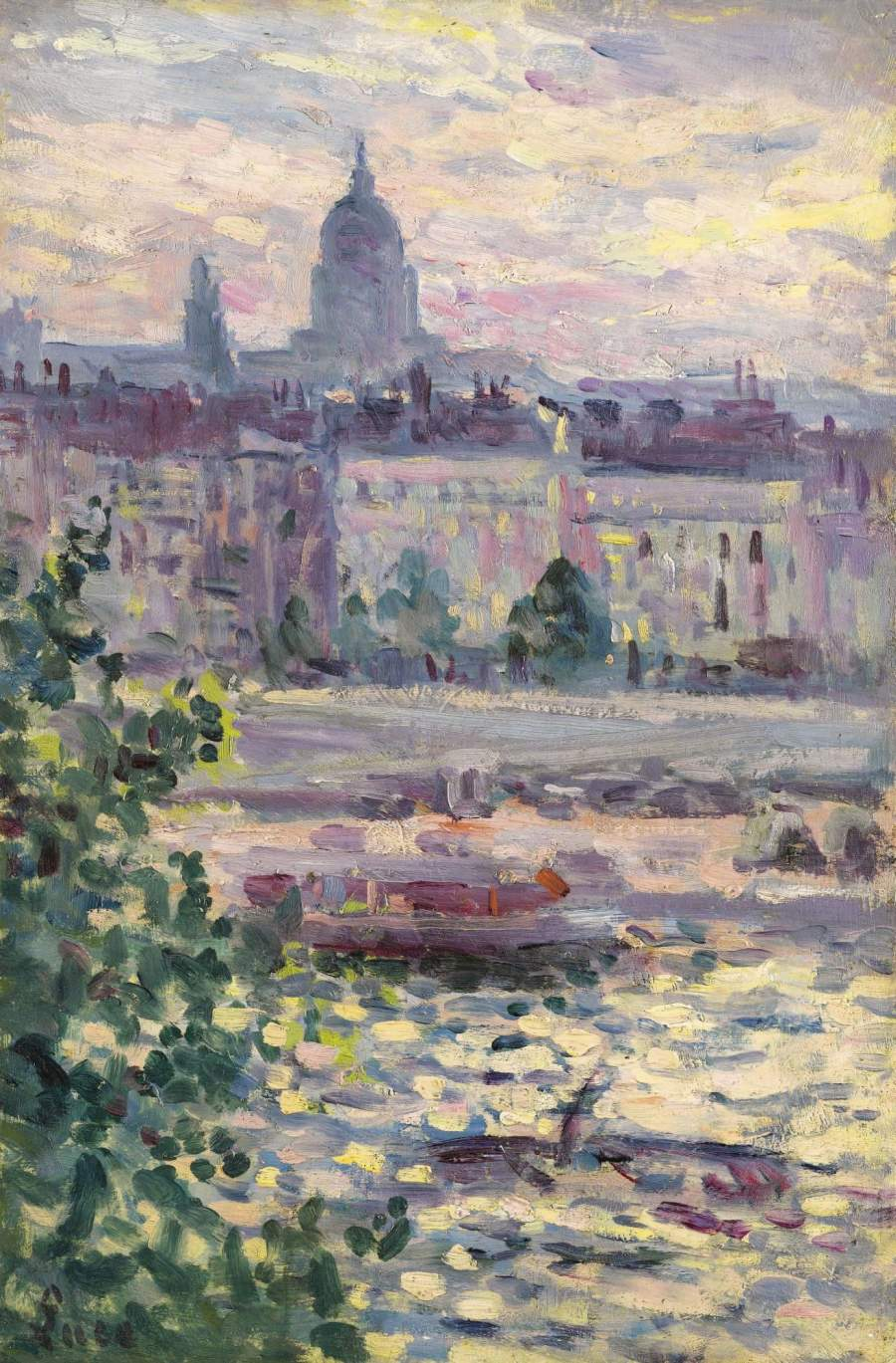 Paris Boards of the Seine the House of Invalids 1910 | Maximilien Luce | oil painting