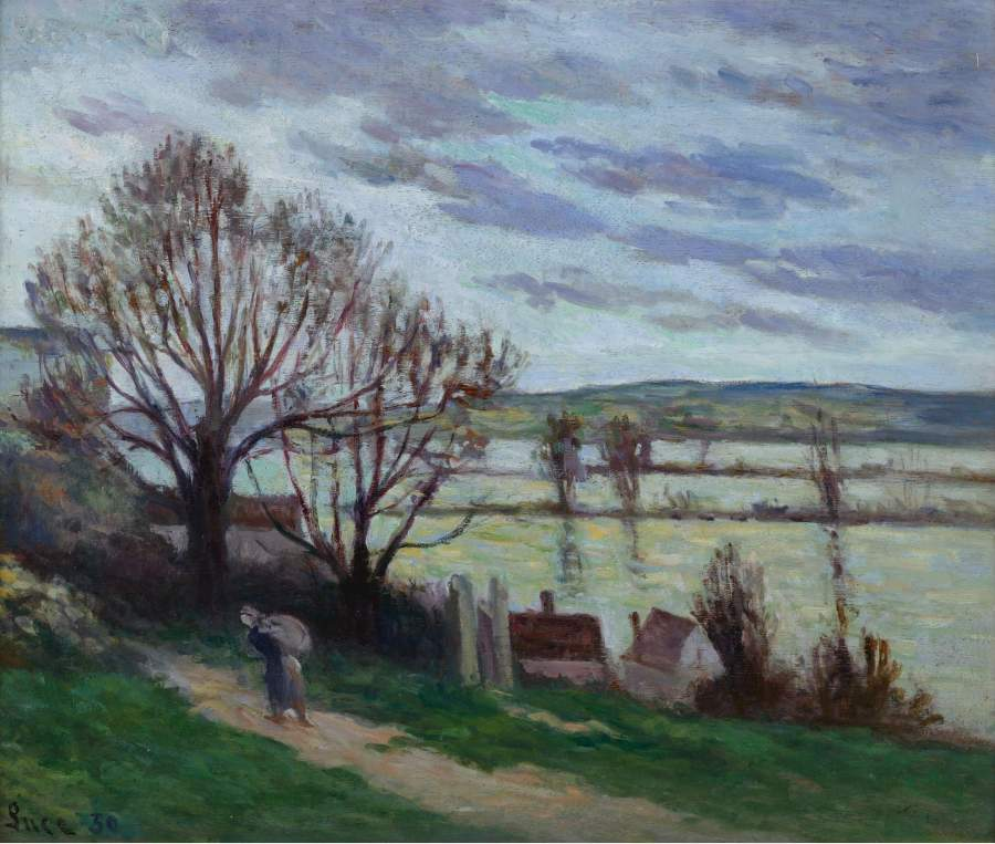 Peasant Woman Going the River Bank 1930 | Maximilien Luce | oil painting